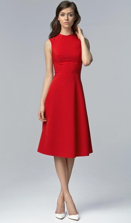 420e5dbe24 Elegancka sukienka MIDI - czerwony - Sklep www.nife.pl - soft office