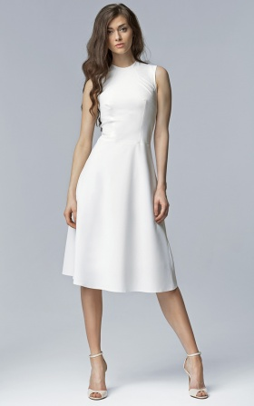 Elegant MIDI dress - ecru