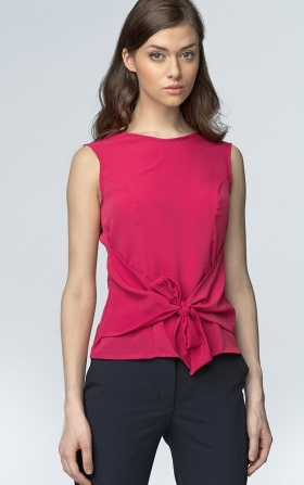 Sleeveless blouse - fuchsia