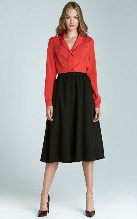 Modna spódnica Midi - czarny