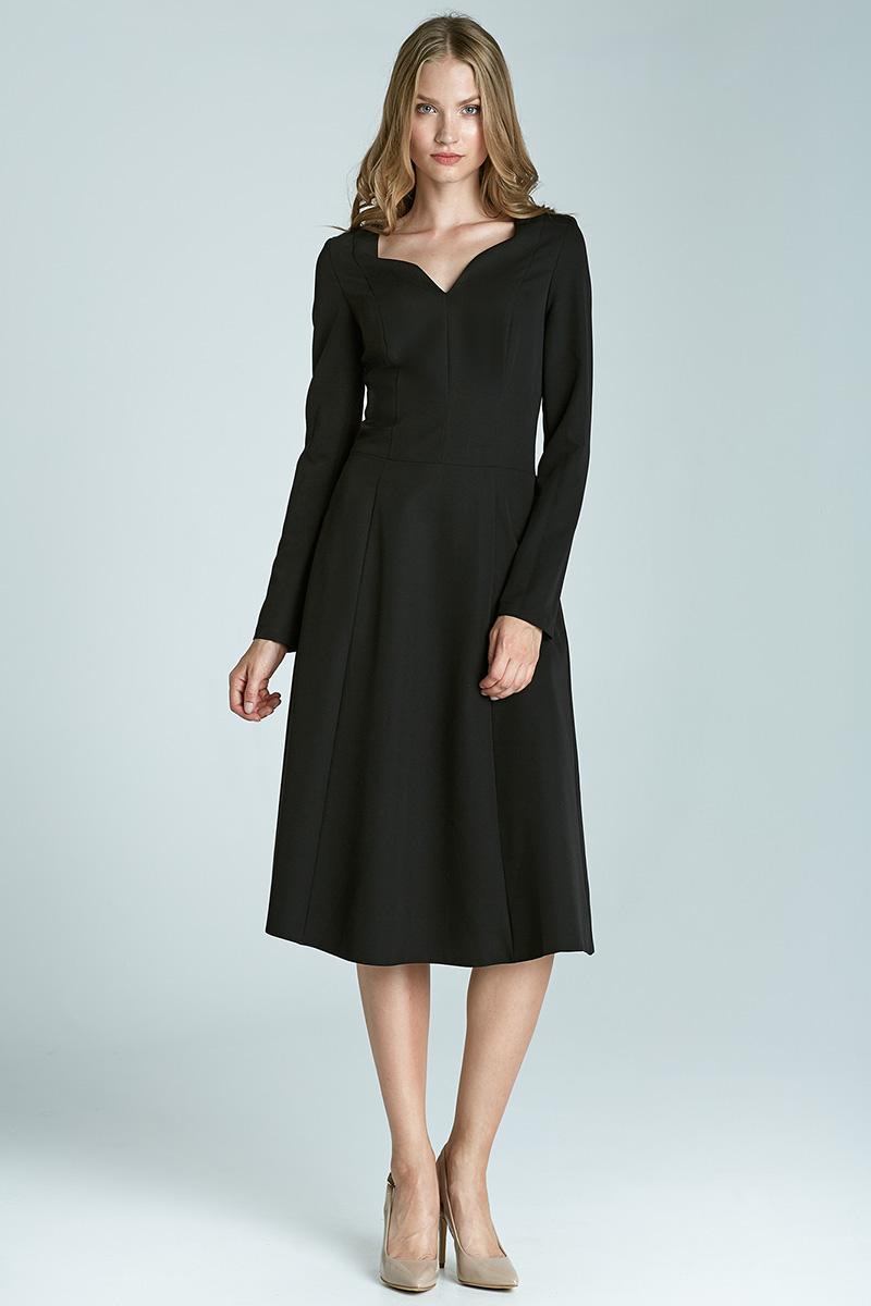 827ec20b79 ... Klasyczna sukienka z długim rękawem - czarny. Symbol  S66