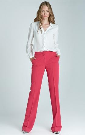 Spodnie bootcut w kolorze fuksji