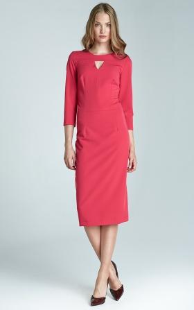 Sukienka damska w kolorze fuksja