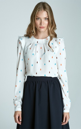 Blouse with ruffles on the shoulders - teardrop