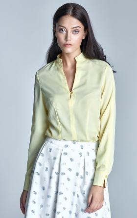 Bluzka z dekoltem w literę V - żółty