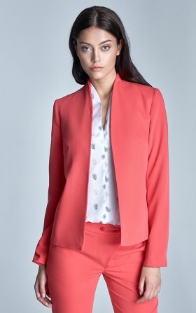 Unique short jacket - coral