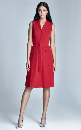 Sleeveless dress - red