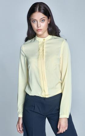 Bluzka z zakładkami - żółty