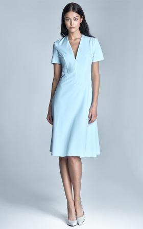 OUTLET Błękitna sukienka damska