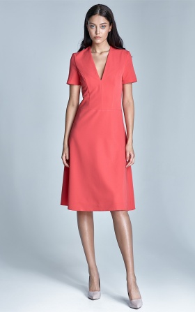 Ginny dress - coral