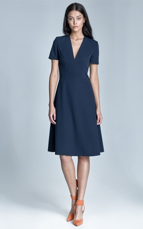 Ginny dress - navy blue