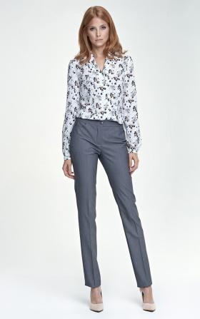 Szare eleganckie spodnie damskie
