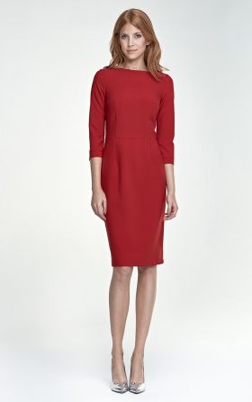 Elegancka czerwona sukienka damska