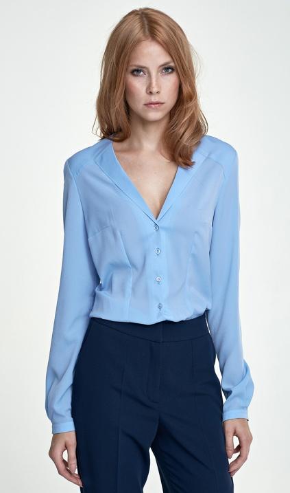 50214ddba56e8f Koszula z nietypowym kołnierzem - błękit , Koszule wizytowe, Długi rękaw,  Koszule - sklep.nife.pl - soft office