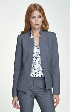 Jacket with cut-outs - gray