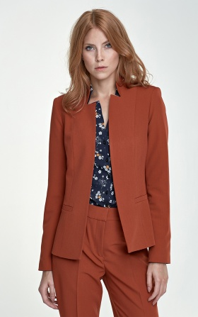 Jacket with cut-outs - ginger