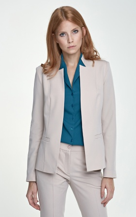 Jacket with cut-outs - beige