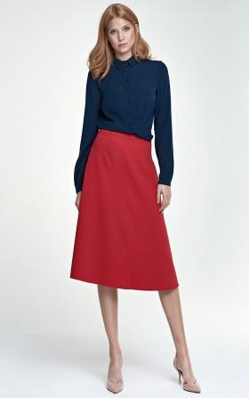 Klasyczna spódnica Midi - czerwony