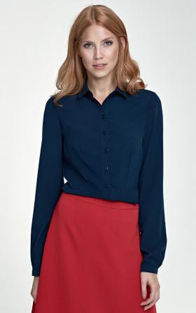 Delikatna granatowa bluzka damska