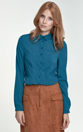 Delicate blouse - green