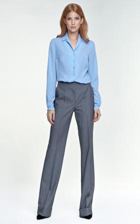 Spodnie z mankietem - szary