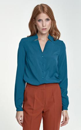 Bluzka z wycięciami - zielony