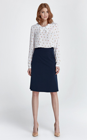 Trapezoidal skirt - navy blue