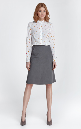 Trapezoidal skirt - gray
