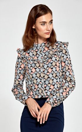 Blouse with frills - pattern