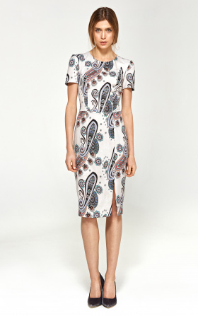 Fitted dress with short sleeves - pattern