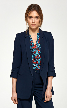Oversize jacket - navy blue