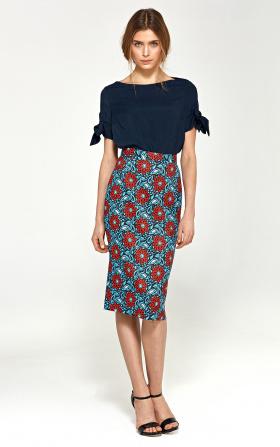 Ołówkowa spódnica - kwiaty