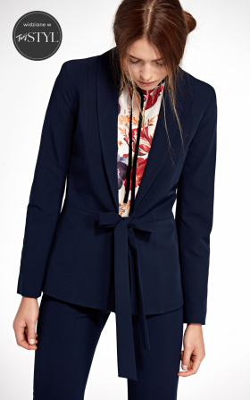 Jacket tied at the waist - navy blue