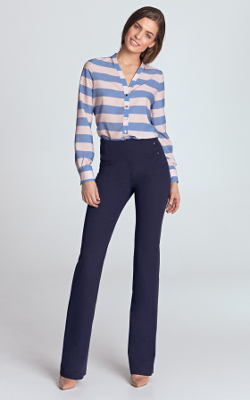 High-waisted pants - violet