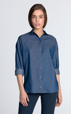 Jeansowa koszula damska oversize