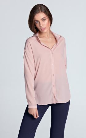 Jasnoróżowa koszula damska