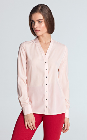 Blouse with gold naps - pink