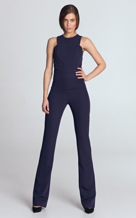 Jumpsuit with exposed arms - violet