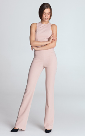 Jumpsuit with exposed arms - pink