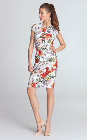 Letnia jasna sukienka w kwiaty