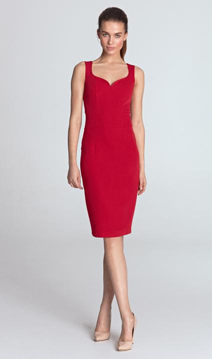 cc554ecfaa Sukienka z dekoltem w kształcie serca - czerwony - Sklep www.nife.pl - soft  office