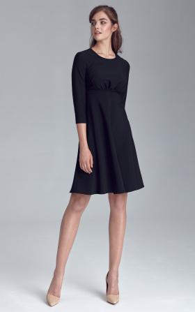Sukienka odcięta pod linią biustu - czarny