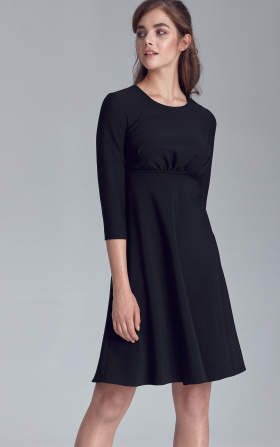 Dress cutted off under the breast line - black