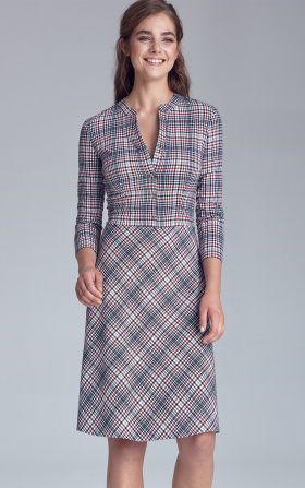 Fastened dress - checkered/pepito