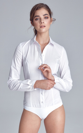 Klasyczna biała koszula body