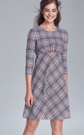 Dress cutted off under the breast line - checkered/pepito