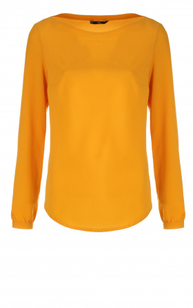 Blouse with puffy sleeves - mustard