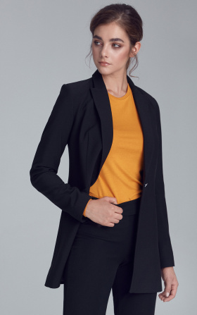 Lengthened jacket - black