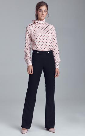 Spodnie garniturowe z napami - czarny