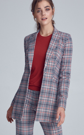 Lengthened jacket - checkered/pepito